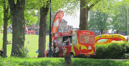 Outside Events, Shrewsbury Ice Cream Van